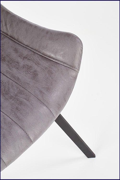 Popielate krzesło w industrialnym stylu Faran