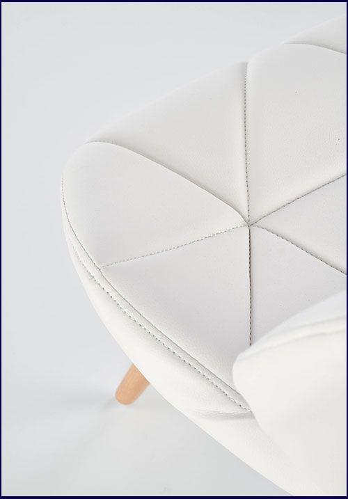Białe krzesło skandynawskie do salonu, jadalni Dagon