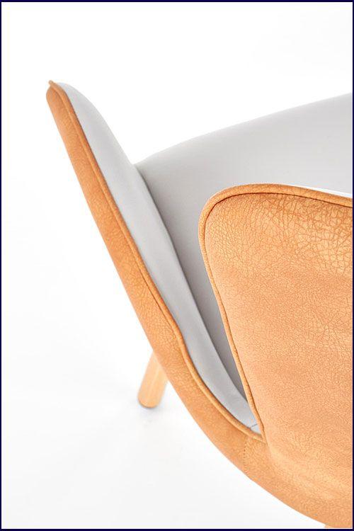 Jasnopopielate tapicerowane krzesło kuchenne Simon