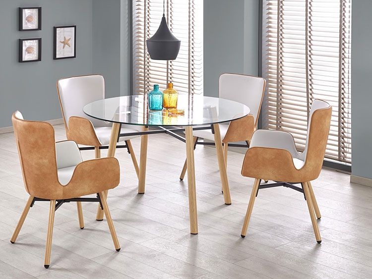 Szare krzesło do stołu w jadalni Simon