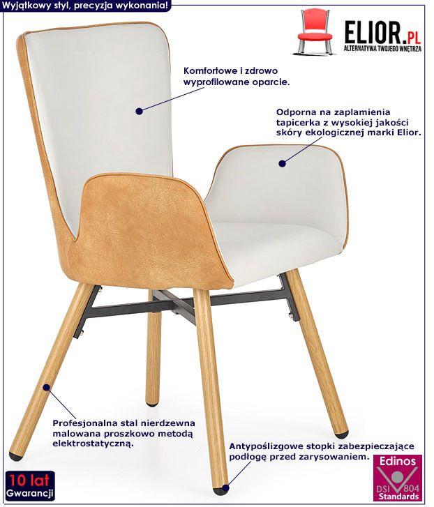 Nowoczesne szare krzesło do salonu Simon