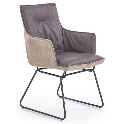 Zdjęcie produktu Krzesło industrialne z podłokietnikami Viler 3X - popiel.