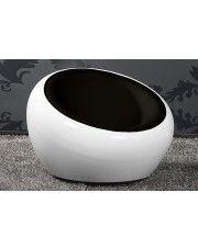 Fotel okrągły Orel - biało - czarny w sklepie Edinos.pl