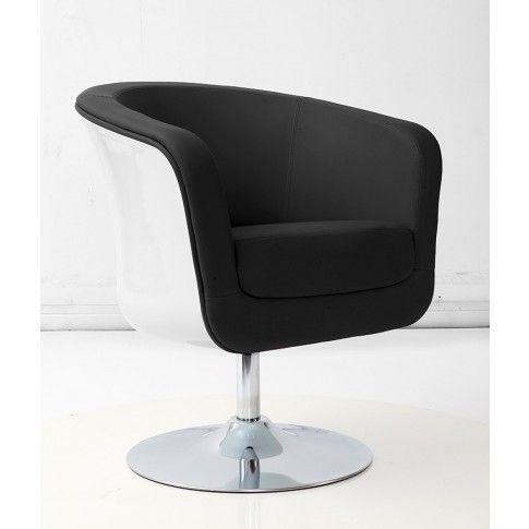Zdjęcie produktu Obrotowy fotel wypoczynkowy Novel - czarno-biały.