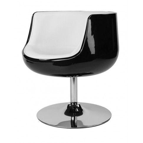 Zdjęcie produktu Fotel obrotowy Reo - czarno - biały.