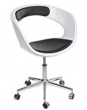 Fotel biurowy Atlant - biało - czarny