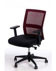 Fotel biurowy Twilt - czarno - bordowy w sklepie Edinos.pl