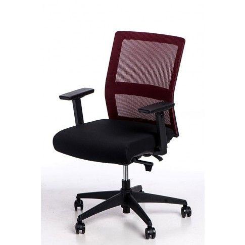 Zdjęcie produktu Fotel biurowy Twilt - czarno - bordowy.