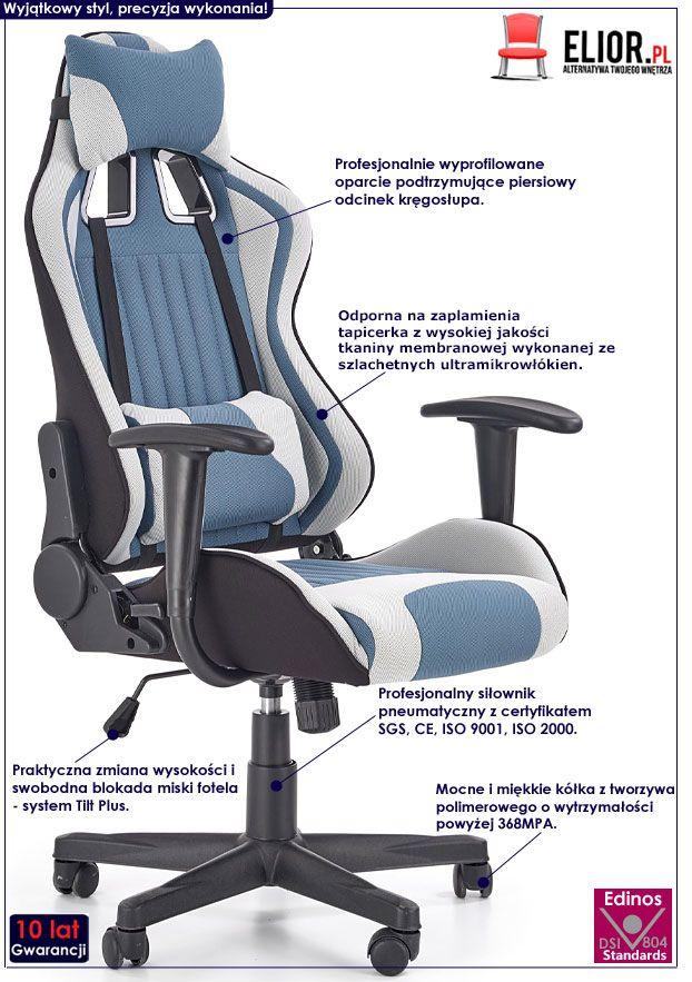 Fotel obrotowy z regulowanym oparciem Topix