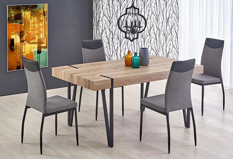 Szare krzesło kuchenne do stołu, jadalni Ibler