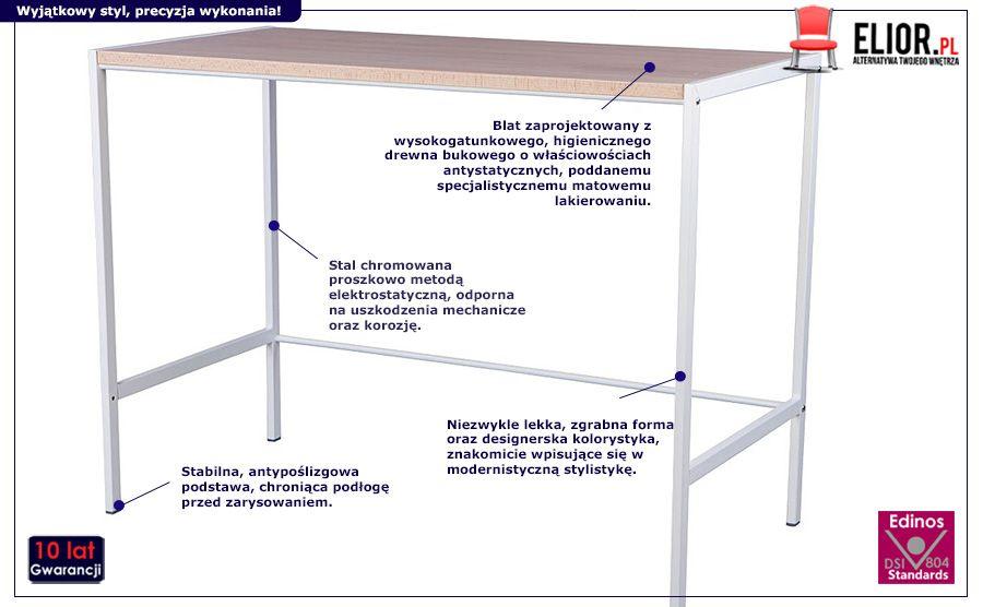 Skandynawskie biurko Netis - drewno bukowe
