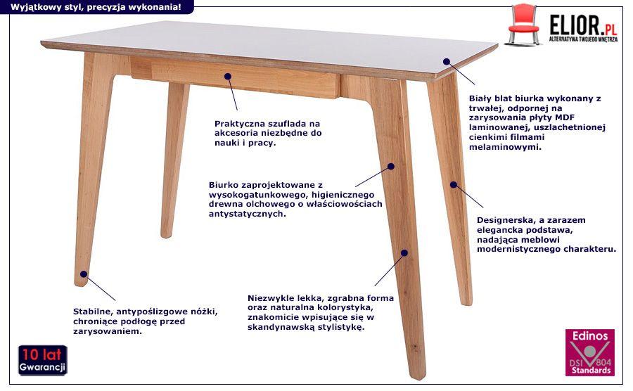 Stylowe biurko Adene - olcha