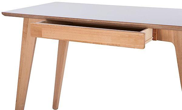 Skandynawskie biurko Adene - drewno olcha