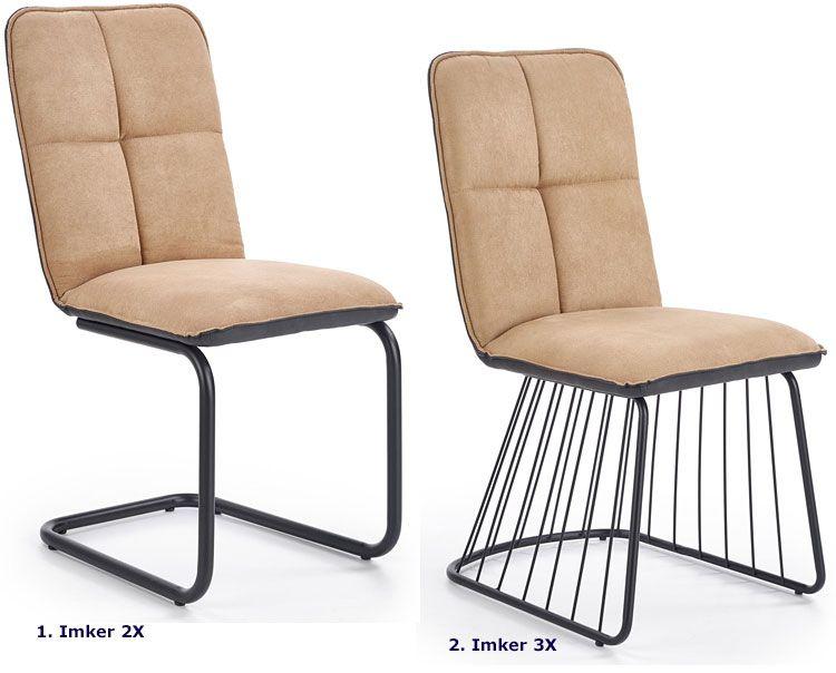Beżowe krzesło do jadalni, salonu Imker