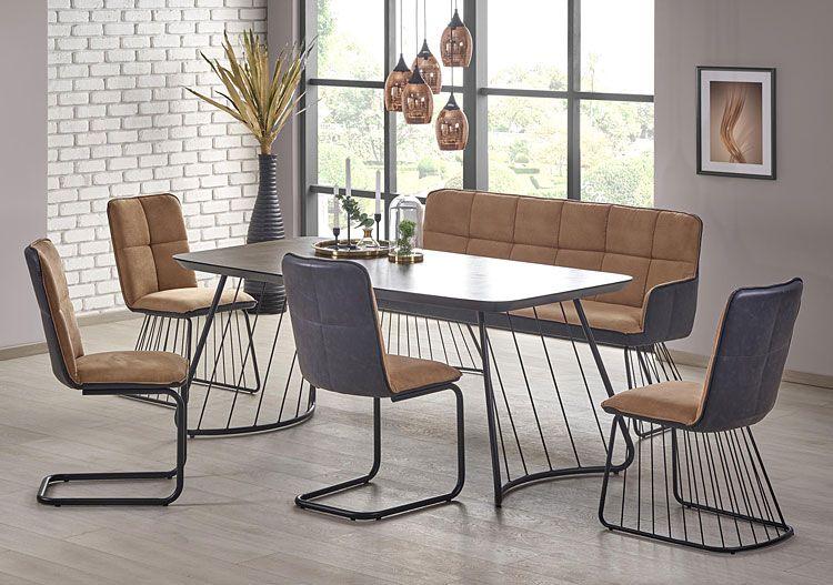 Beżowe krzesło industrialne Imker