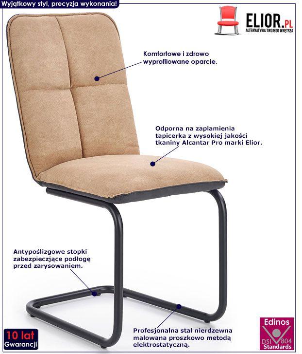 Beżowe krzesło w industrialnym stylu Imker 2X
