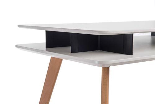 Minimalistyczne biurko Scandus - drewniane