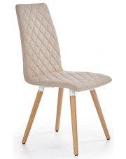 Krzesło pikowane Corden - beżowe w sklepie Edinos.pl