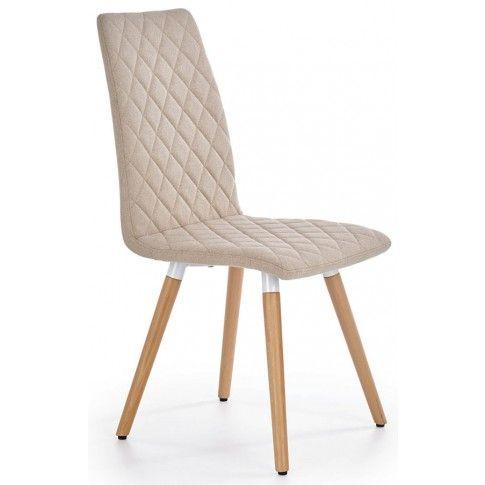 Zdjęcie produktu Pikowane krzesło stylowe Corden - beżowe.