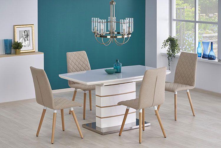 Beżowe krzesła tapicerowane do salonu, jadalni Corden