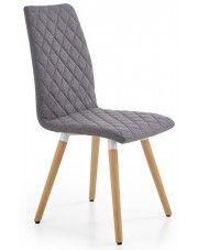 Krzesło pikowane Corden - popielate w sklepie Edinos.pl
