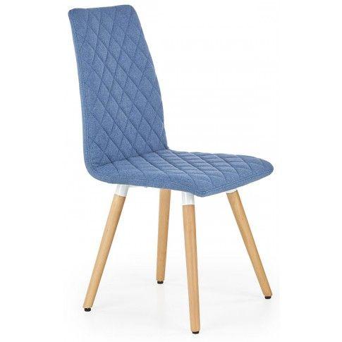 Zdjęcie produktu Krzesło pikowane Corden - niebieskie.