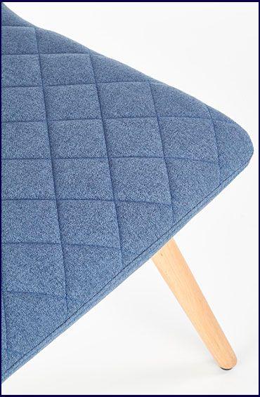 Niebieskie krzesło tapicerowane do jadalni Corden
