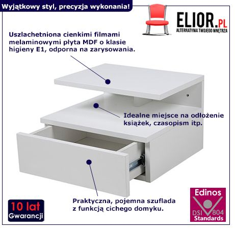 Skandynawska szafka Milda - biała