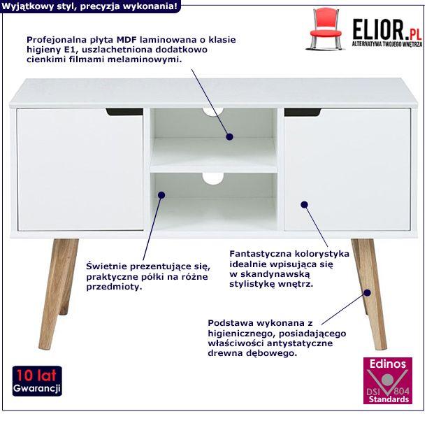 Minimalistyczna szafka Sfiena - biała