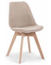 Krzesło drewniane Nives - beżowe