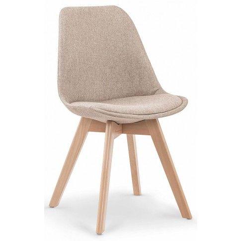 Zdjęcie produktu Tapicerowane stylowe krzesło drewniane Nives - beżowe.