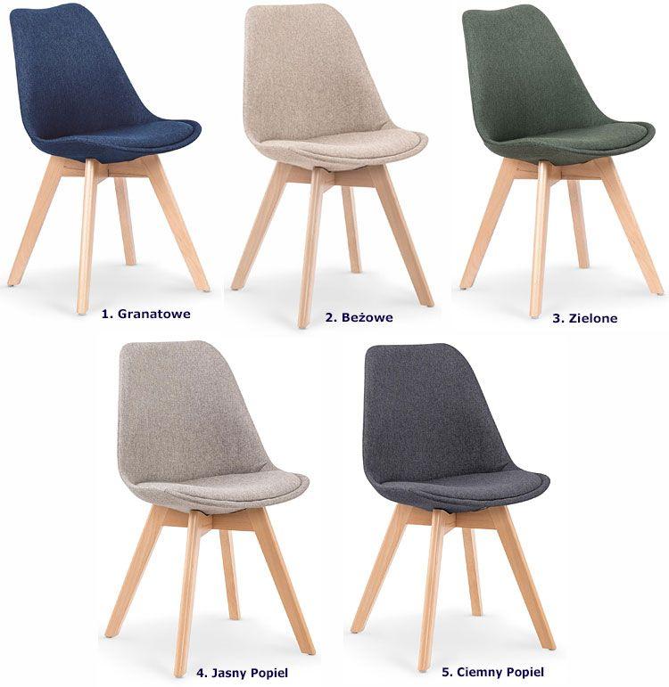 Drewniane krzesło do stołu, biurka styl Eames Nives