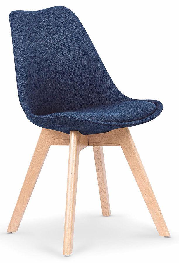 Granatowe Krzesło Drewniane Do Kuchni Jadalni Nives Sklep