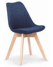 Krzesło drewniane Nives - granatowe