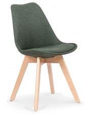 Krzesło drewniane Nives - zielone
