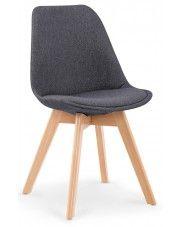 Krzesło drewniane Nives - ciemny popiel