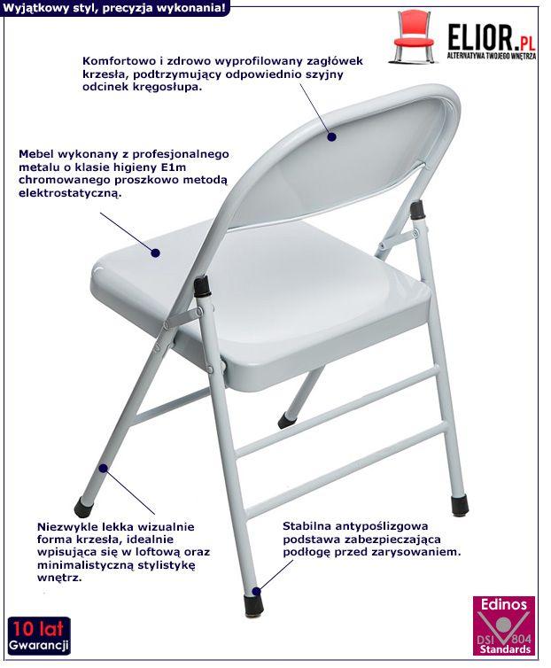 Stylowe krzesło Ledox - białe