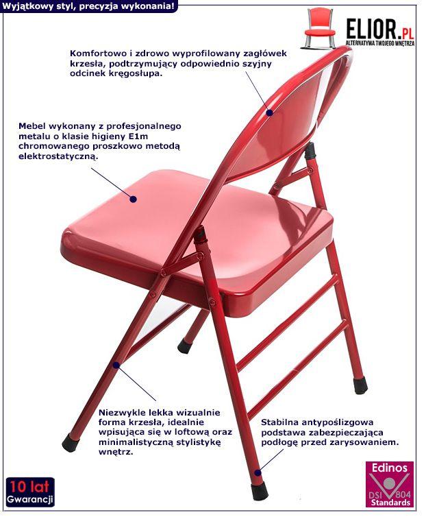 Nowoczesne krzesło Ledox - czerwone