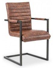 Krzesło industrialne Dimon - brązowe