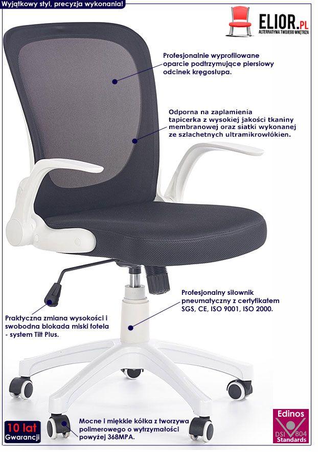 Czarny fotel obrotowy do komputera Milter
