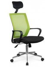 Wentylowany fotel obrotowy Tomix - zielony w sklepie Edinos.pl
