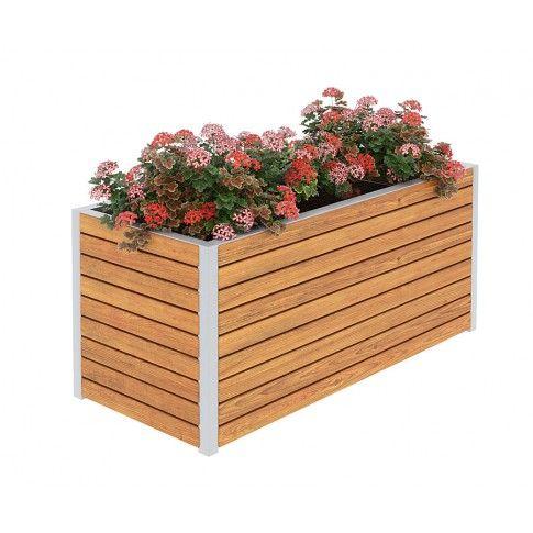Zdjęcie produktu Drewniana skrzynka ogrodowa Zeris - 24 kolory.