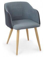 Krzesło z printem Limer - niebieskie