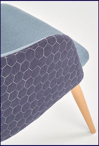 Niebieskie krzesło tapicerowane do kuchni Limer