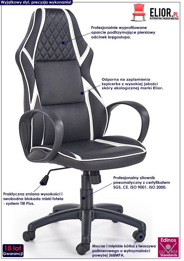 Czarny fotel obrotowy do biura, gabinetu Xeron