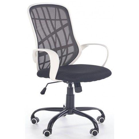 Zdjęcie produktu Wentylowany fotel Regan - czarny + biały.