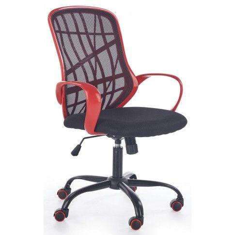 Zdjęcie produktu Fotel obrotowy Regan - czarny + czerwony.