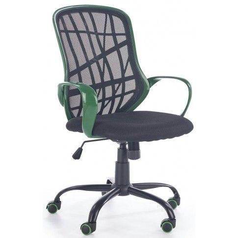 Zdjęcie produktu Fotel obrotowy Regan - czarny + zielony.