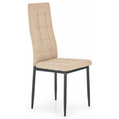 Zdjęcie produktu Krzesło pikowane Erfan - beżowe.
