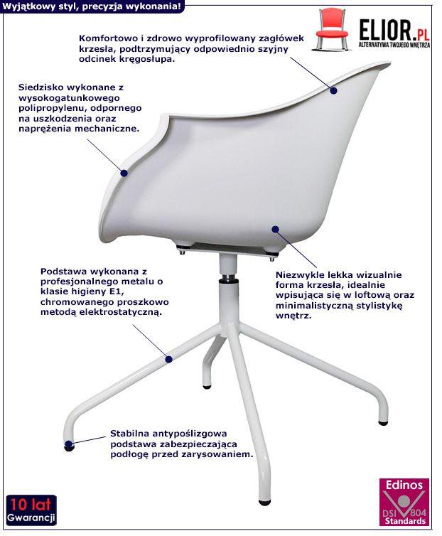 Minimalistyczne krzesło Dubby - białe